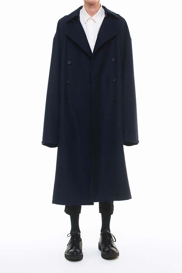 NEW ARRIVAL DRESSEDUNDRESSED FALL WINTER 2016 COLLECTION  XXL DOUBLE BREASTED WOOL TORICOTIN TRENCHCOAT
