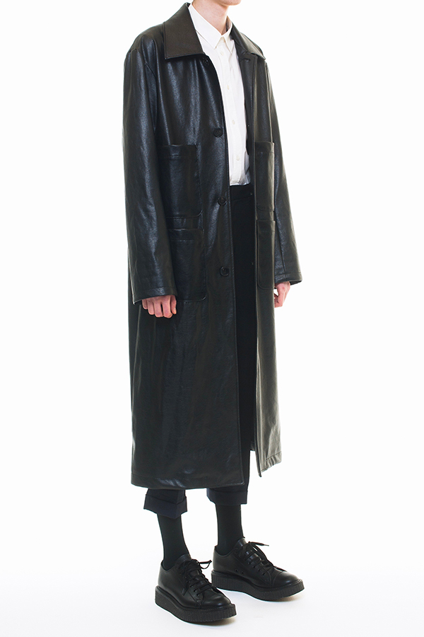 NEW ARRIVAL DRESSEDUNDRESSED FALL WINTER 2016 COLLECTION  SINGLE BREASTED FAUX LEATHER TRENCHCOAT