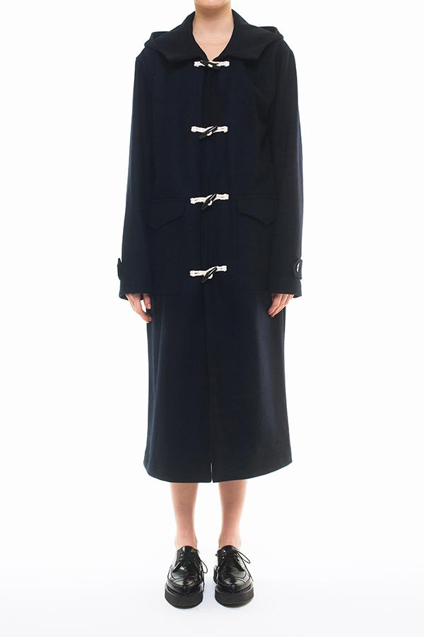 NEW ARRIVAL DRESSEDUNDRESSED FALL WINTER 2016 COLLECTION  MELTON WOOL HERRINGBONE DUFFLE COAT