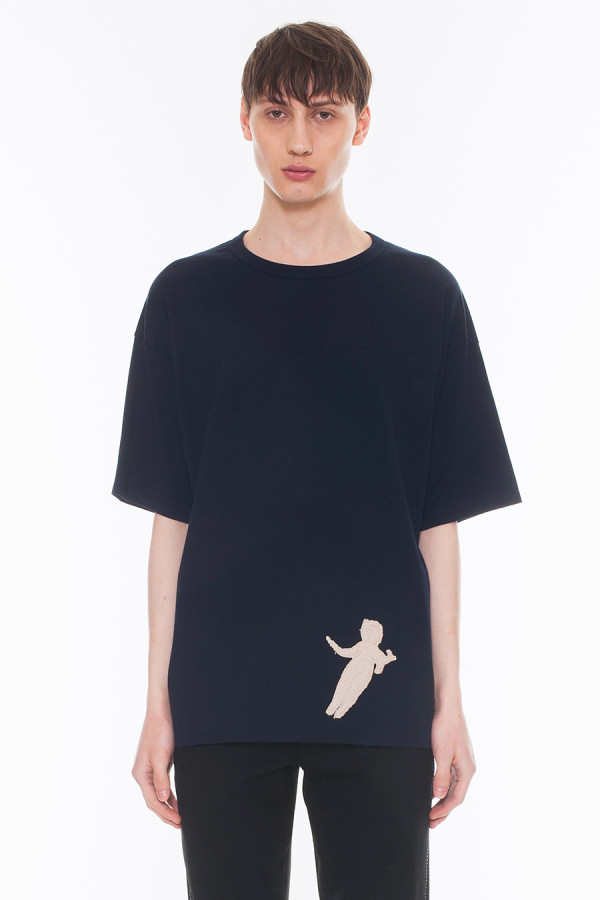 NEW ARRIVAL DRESSEDUNDRESSED FALL WINTER 2017 COLLECTION  PILE EMBROIDERY OVERSIZED T-SHIRT