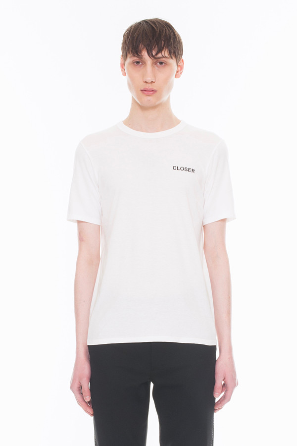 NEW ARRIVAL DRESSEDUNDRESSED FALL WINTER 2017 COLLECTION CLOSER EMBROIDERY T-SHIRT